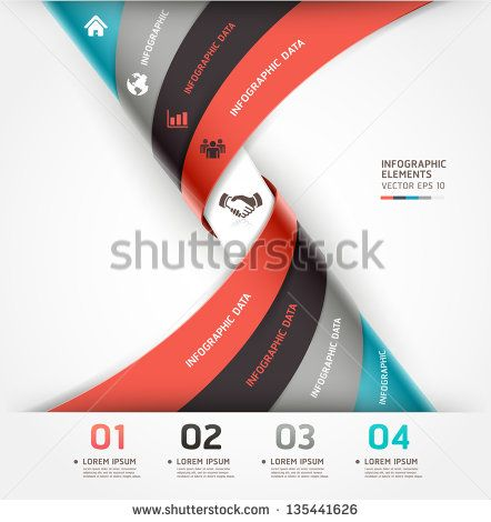 Абстрактный спираль инфографика варианты баннеров.  Векторная иллюстрация.  может быть использован для размещения рабочего процесса, диаграммы, Настройки Количество, веб-дизайн.