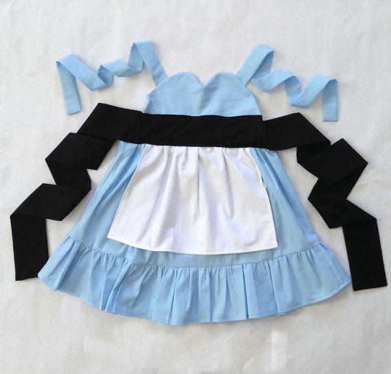 Alice in Wonderland Inspired Sweetheart Dress Disney Princess Party Dress Up --  girls toddler costume children clothing