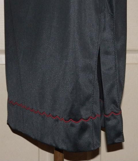 Vintage 60s 70s JOLIE GRANDE Black Nylon Red Embroidered Half Slip S #JolieGrande #Slip