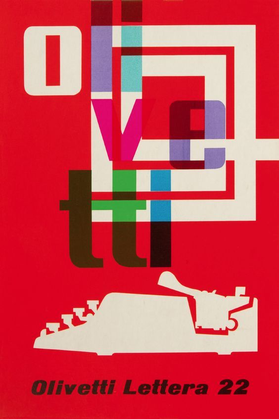 Olivetti Typewriters ~ F. Henrion