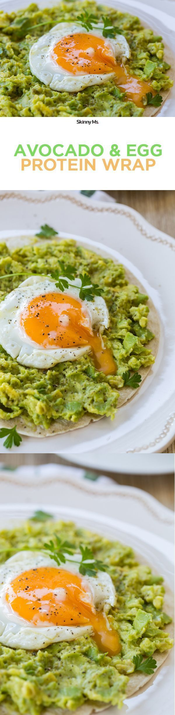 Weve packed in two superfoods, avocados and eggs, that offer tons of health benefits in this Avocado And Egg Protein Wrap! #cleaneating #healthyfood