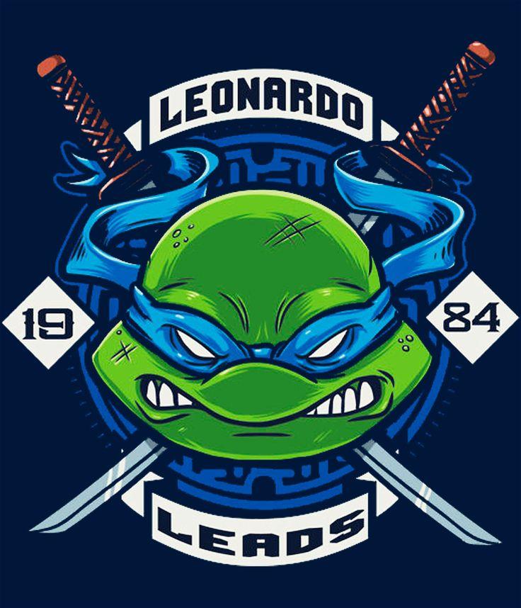Camiseta Tortugas Ninja. Leonardo