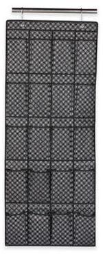 Home Basics® Blossom Metallic 20-Pocket Over-the-Door Shoe Organizer in Silver