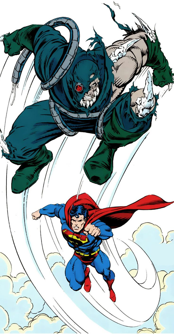 Doomsday vs Superman by Tom Grummett