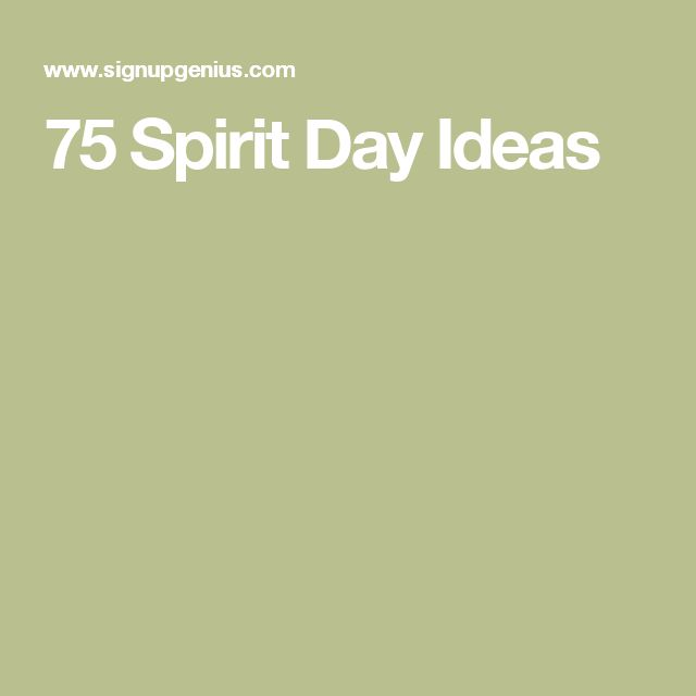 75 Spirit Day Ideas                                                       …