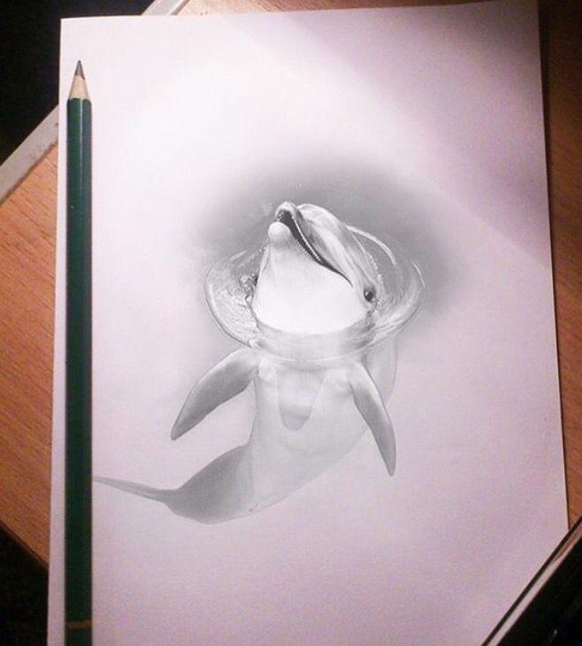 как нарисовать объемные рисунки из фото работе чертежными