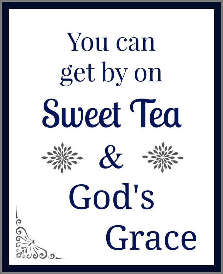 All sweet tea lovers will love this sign. It's a free printable.