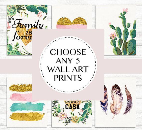 Printable Wall Art Set Custom Wall Art Prints by BaloeDesigns