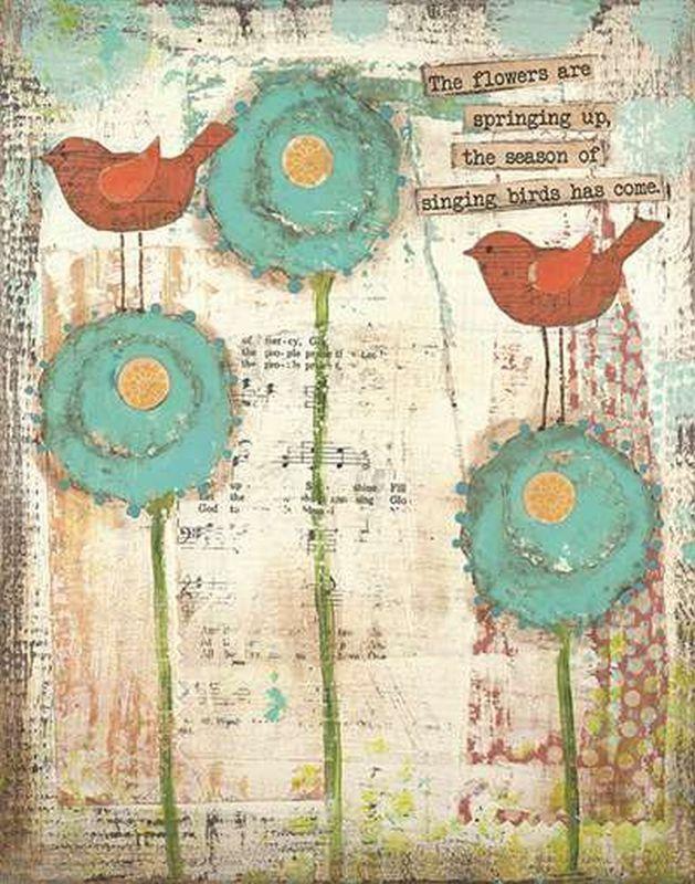 Singing Birds Canvas Wall Art