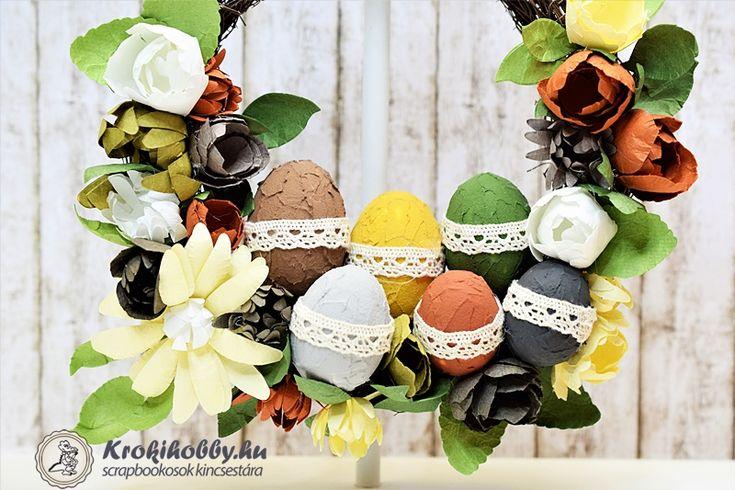 Közeledik a húsvét, ha még nincs ajtódíszetek akkor tartsatok velünk.  A most divatos kőhatású pasztával, és sok szép virággal készíthetünk húsvéti-koszorút.