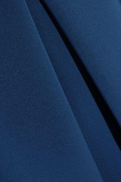 Preen by Thornton Bregazzi - Palmer Pleated Stretch-crepe Midi Dress - Indigo - x large