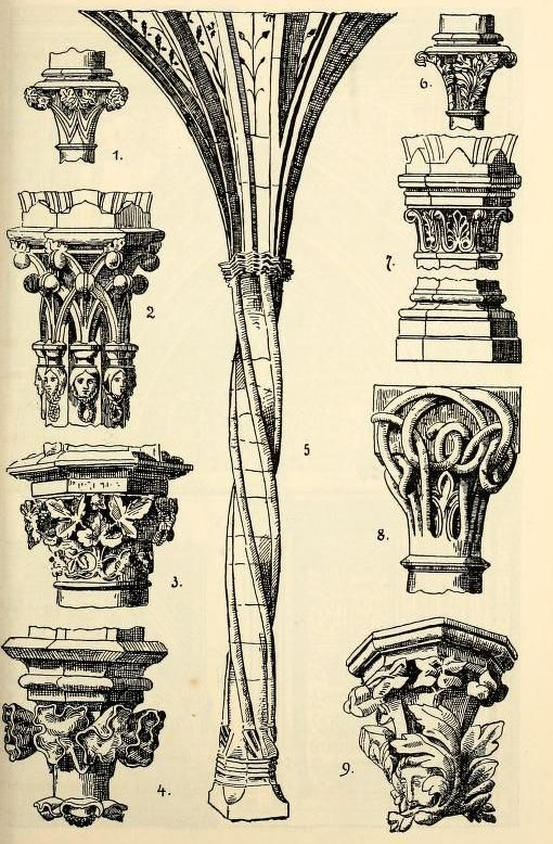 Gothic style columns