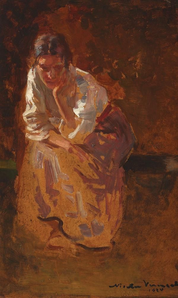 In deep thought, 1924, Nicolae Vermont (1866-1932)