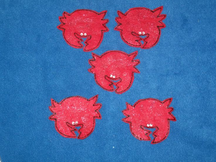 Five Cranky Crabs by PlayfulPathFelts on Etsy