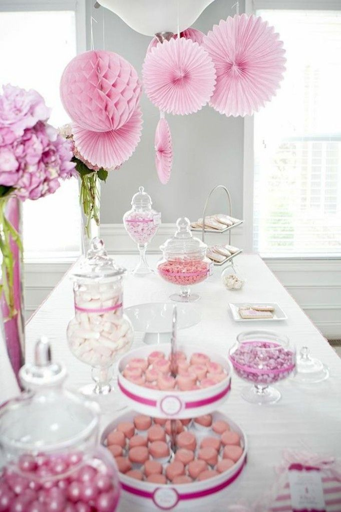 #pink #party #idea #girl #1st #deorations (24)