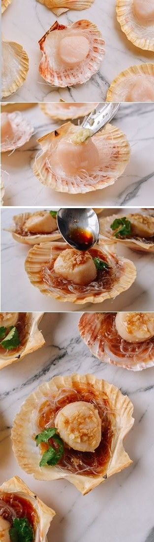 Steamed Scallops with Glass Noodles Recipe by the Woks of Life