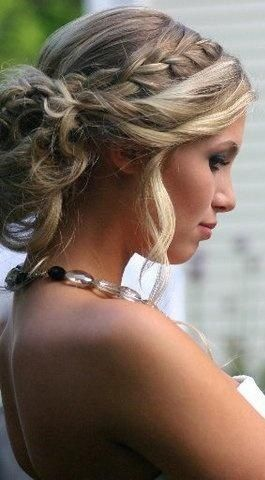 start the braid further back and twist bangs instead of putting them in the braid