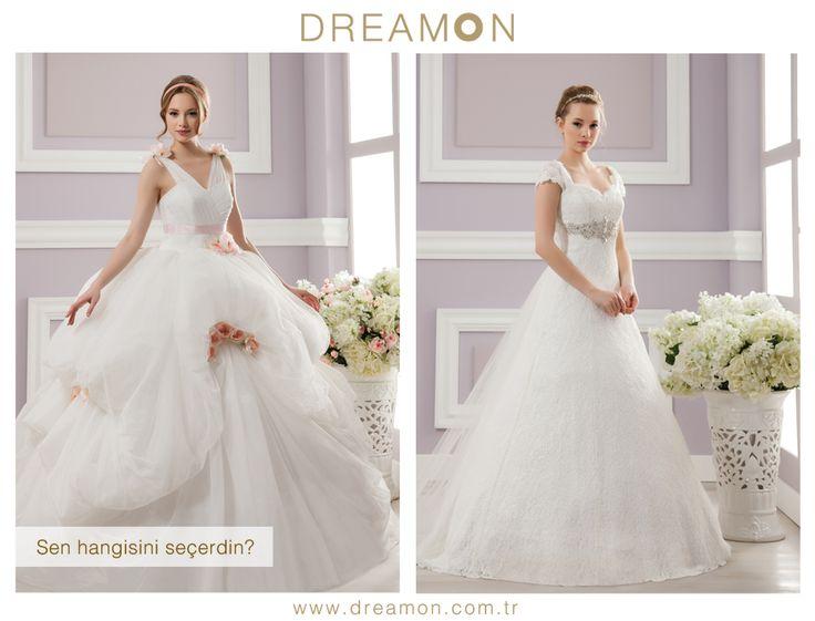 """Dreamon'un birbirinden özel modellerinden """"Sen Hangisini Seçerdin?""""   www.dreamon.com.tr  #gelinlik #gelinlikmodelleri #dreamongelinlik #dreamon #gelinlikler #geceelbisesi #abiyeelbise"""