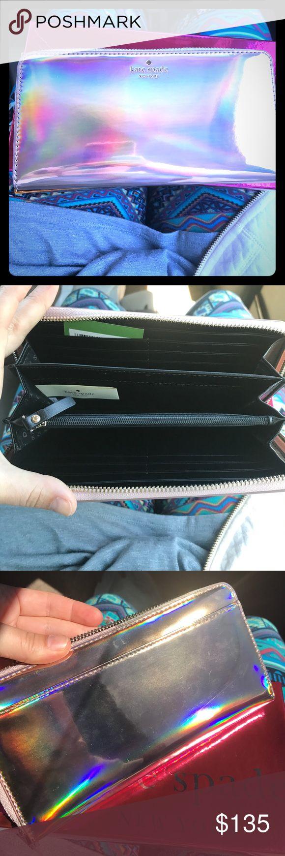 💥Flash Sale💥Iridescent Kate Spade Zipper Wallet Stunning iridescent Zipper Wallet with lots of storage kate spade Bags Wallets