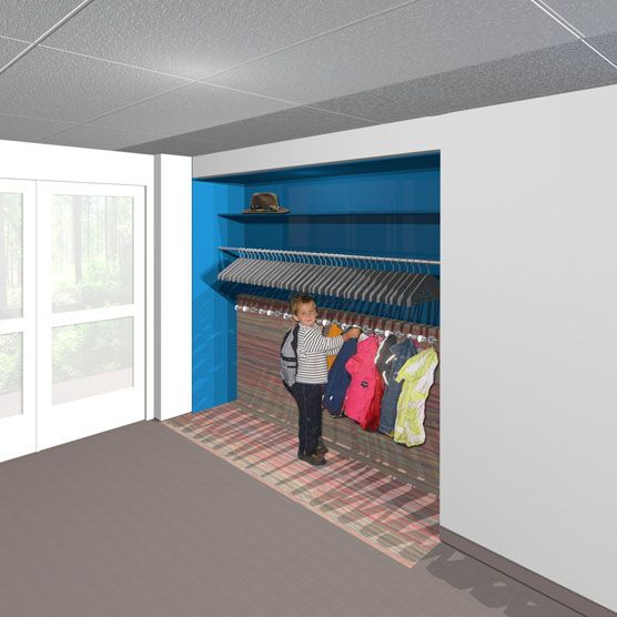 Garderobe - Ontwerp Kaliber Kunstenschool te Wierden « Anne-Carien interieurarchitect