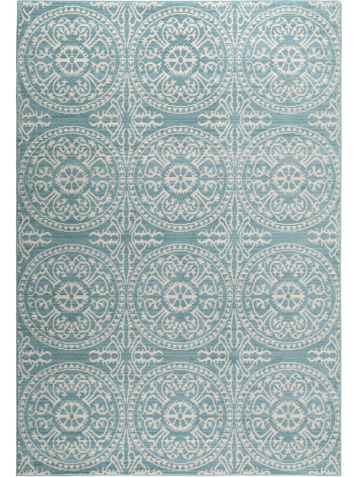 Ornamentale Muster kommen auf Pastell Teppichen besonders gut zur Geltung