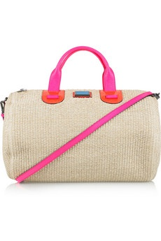 Neutral bag with summery handles - perfect mix.