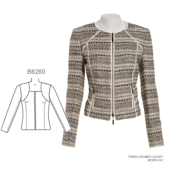 On your 2016 sewing list: the seamed jacket. Sew the look with Butterick B6260 sewing pattern.