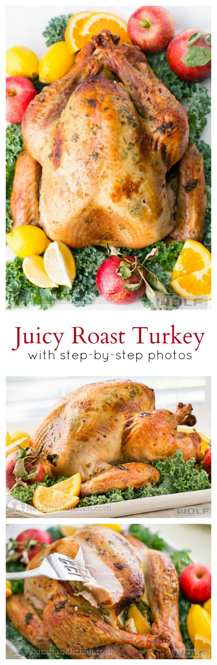 Juicy Roast Turkey. This turkey has the juiciest, most flavorful turkey breast! KEEPER!! from @natashaskitchen