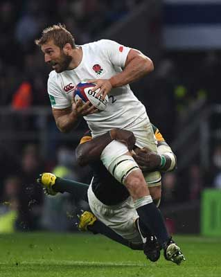 Chris Robshaw in action during the Old Mutual Wealth Series match between England and South Africa