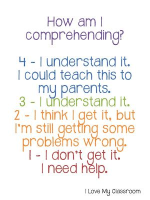 Comprehension Assessment - can be adapted for the music classroom