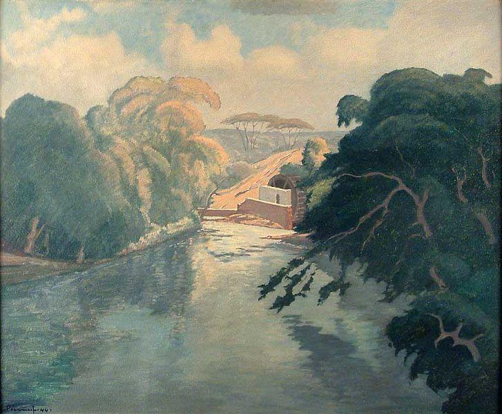 Jacob Hendrik Pierneef -  Watermill Near Stellenbosch, 1944