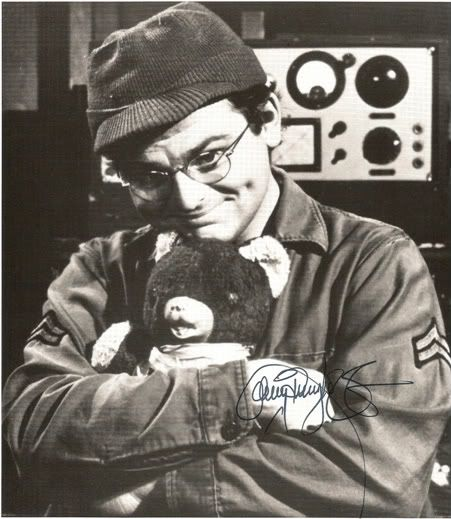I thought Radar would make a great daddy for my teddybear!  Was I the only 5 year old that has seen all the Mash episodes???? My fave character from M*A*S*H - Radar, GaryBurghoff.