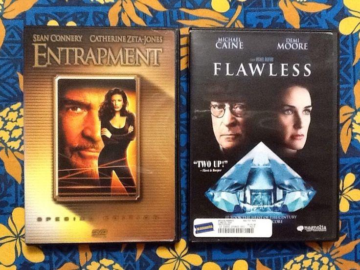 2 DVD ENTRAPMENT & FLAWLESS Connery Zeta-Jones Caine Moore Great Heist Films WS