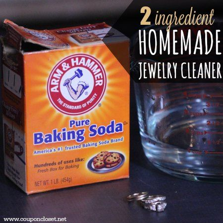 Try this easy homemade jewelry cleaner - you just need 2 ingredients for this quick and effective homemade jewelry cleaner.