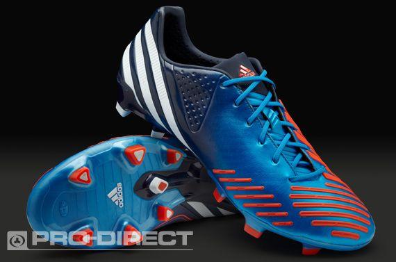 adidas Football Boots - adidas Predator LZ TRX FG - Firm Ground - Soccer Cleats - Blue-White-Infrared
