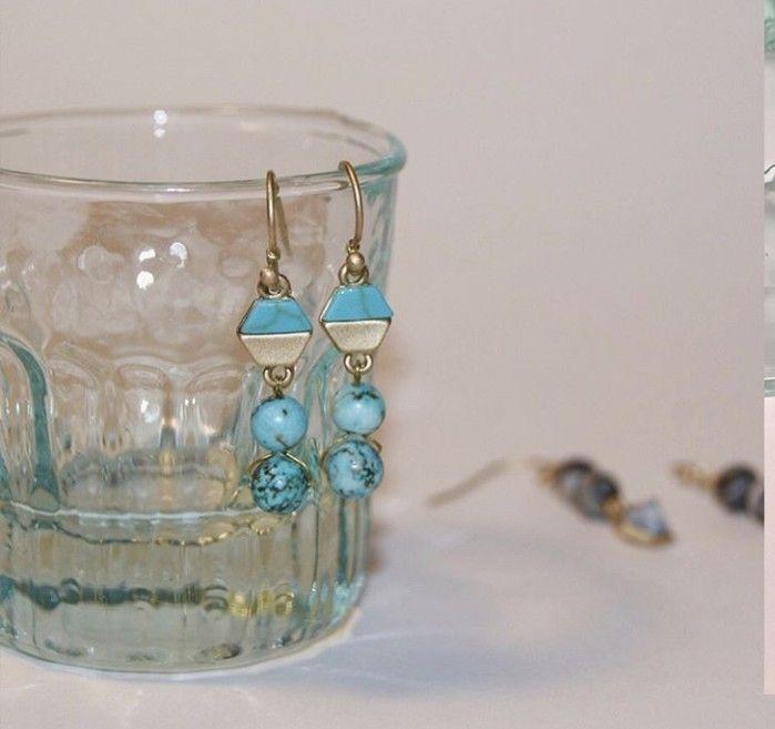 * GEOMETRÍA CELESTE *  Diseños propios hechos a mano.  Abalorios de piedra natural. ⚠ Información sobre alérgenos: Perno con flash de oro. . . . . #12 #pendienteseventos #elegante #pendientes #handmade #navidad #madrina # #bautizo #comunion #boda #bisuteria #novia #fashion #oro #turquesa #gold #bridal #earrings #moda #nochevieja #jewellery #jewels #regaloperfecto #regalo #lainvitadaperfecta #invitadaperfecta #lepair