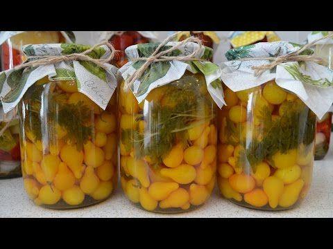 Маринованные желтые помидоры с петрушкой. Видео рецепт / Простые рецепты