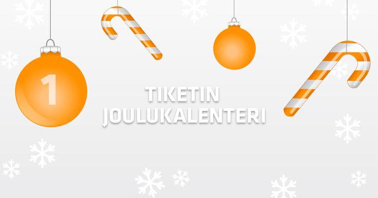 Arvomme jouluun saakka päivittäin mahtavia tapahtumapalkintoja. Avaa luukku joka päivä!
