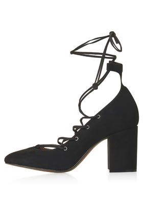 GOLD Round Toe Ghillie Shoes TopShop