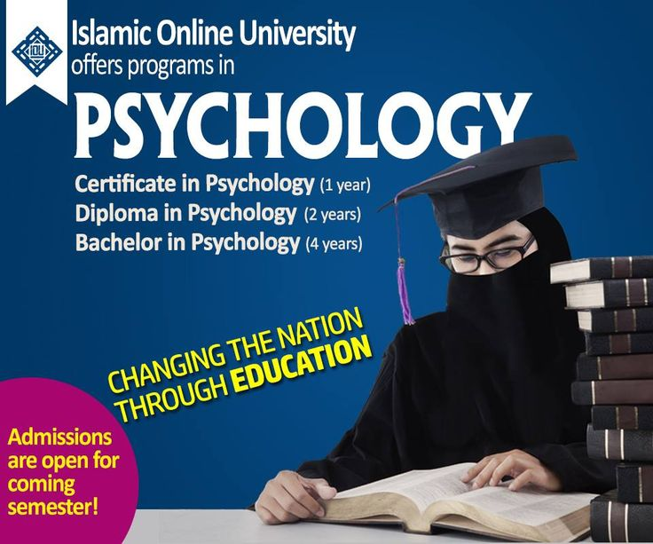 Islamic Online University offers programs in PSYCHOLOGY  -Certificate in Psychology http://islamiconlineuniversity.com/cpsy  -Diploma in Psychology http://www.islamiconlineuniversity.com/dpsy/  -Bachelor in Psychology http://www.islamiconlineuniversity.com/psy/  Become a part of Changing the Nation through Education  New semester begins in March in sha Allah! HURRY UP!!  For further queries, email us at info@iou.edu.gm