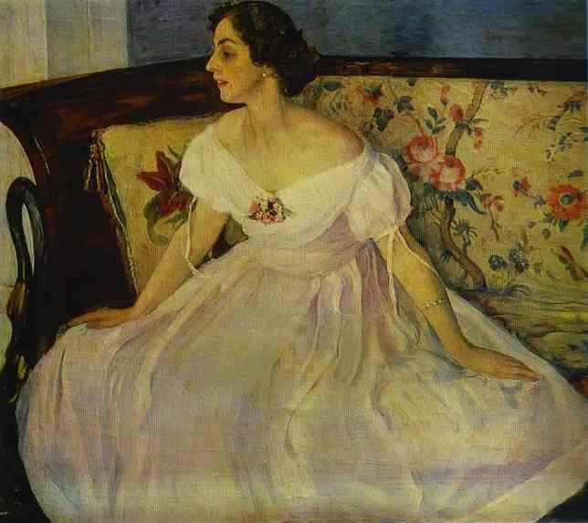Mikhail Nesterov - Portrait of Vera Nesterova