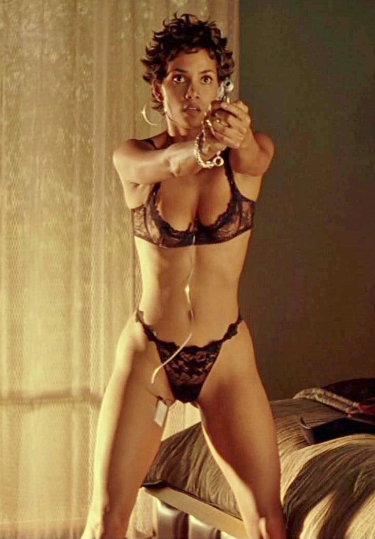 Something is. halle berry swordfish topless really. agree