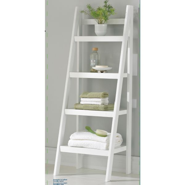 Homestar 4-shelf Ladder Bookcase