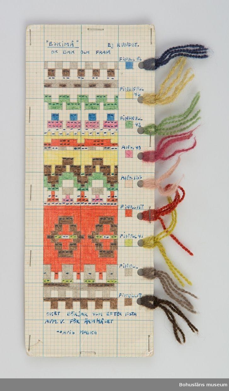 """Mönsterritning för mönstret """"Eskimå"""" av Anna-Lisa Mannheimer Lunn från Bohus Stickning, ca 1948-1953"""