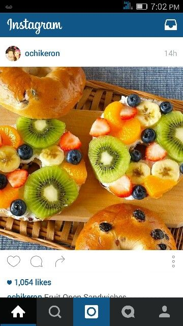 Fruit bagel