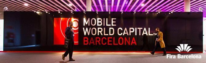 Affiche du Mobile World Capital de Barcelone, Catalogne (Espagne)