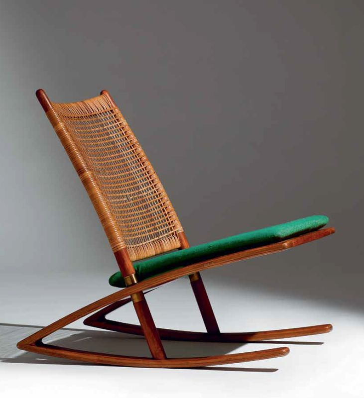 1958_ Rocking Chair model 599 by Fredrik Kayser