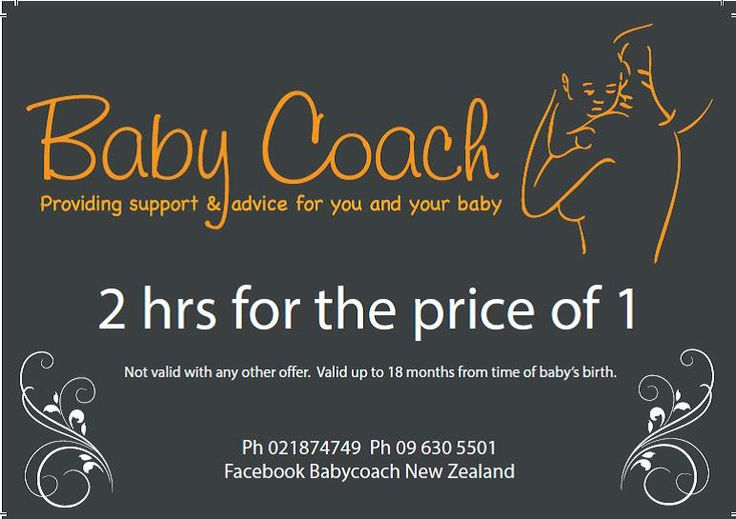 GIft voucher available from Babycoach NZ. $75 2hrs for the price of one