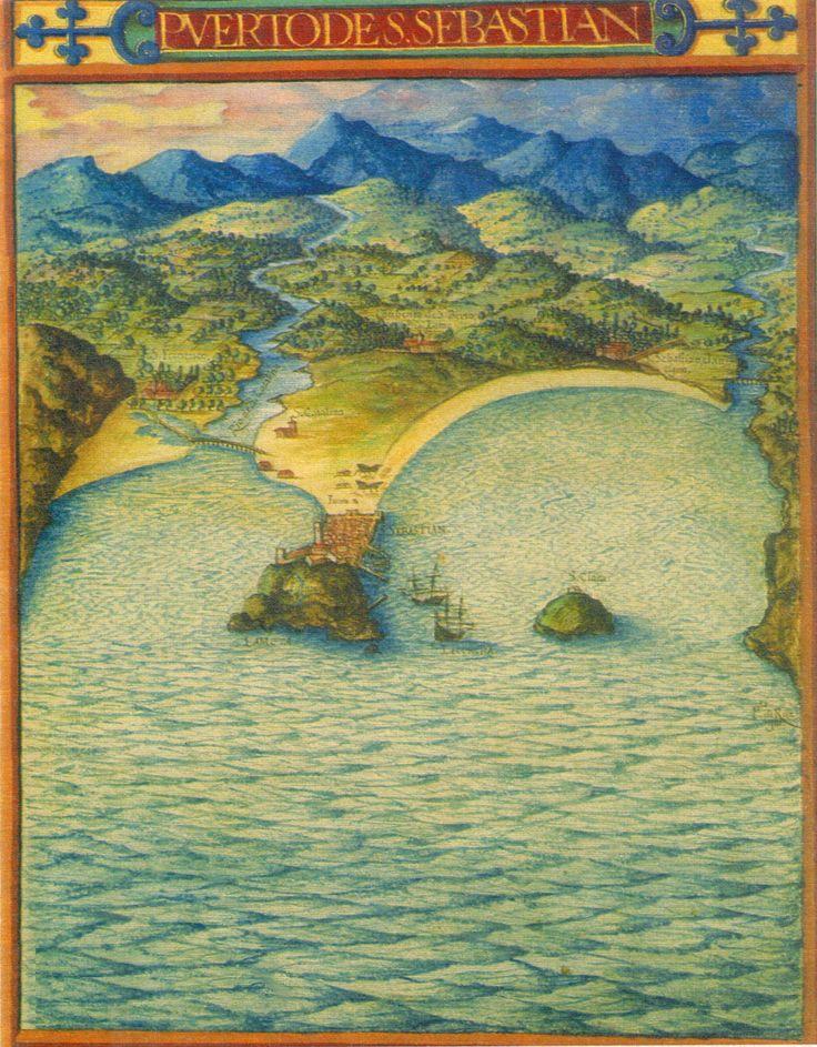 Cartografía de Donostia (San Sebastian) - España. S. XVII (1622, aprox.) Autor: Pedro Texeira.