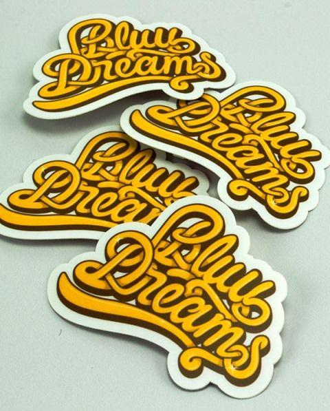 35 Contoh Desain Sticker Sebagai Media Promosi yang Efektif - 13. Bluu Dreams Stickers